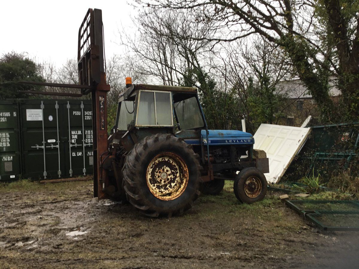1970 Leyland tractor with forklift For Sale (picture 1 of 1)