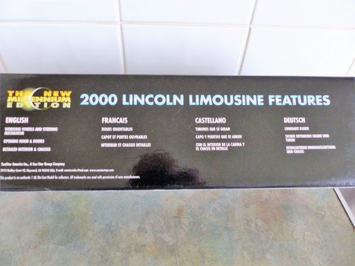 SUN STAR 1:18 SCALE LINCOLN LIMOUSINE MINT BOXED For Sale (picture 3 of 6)