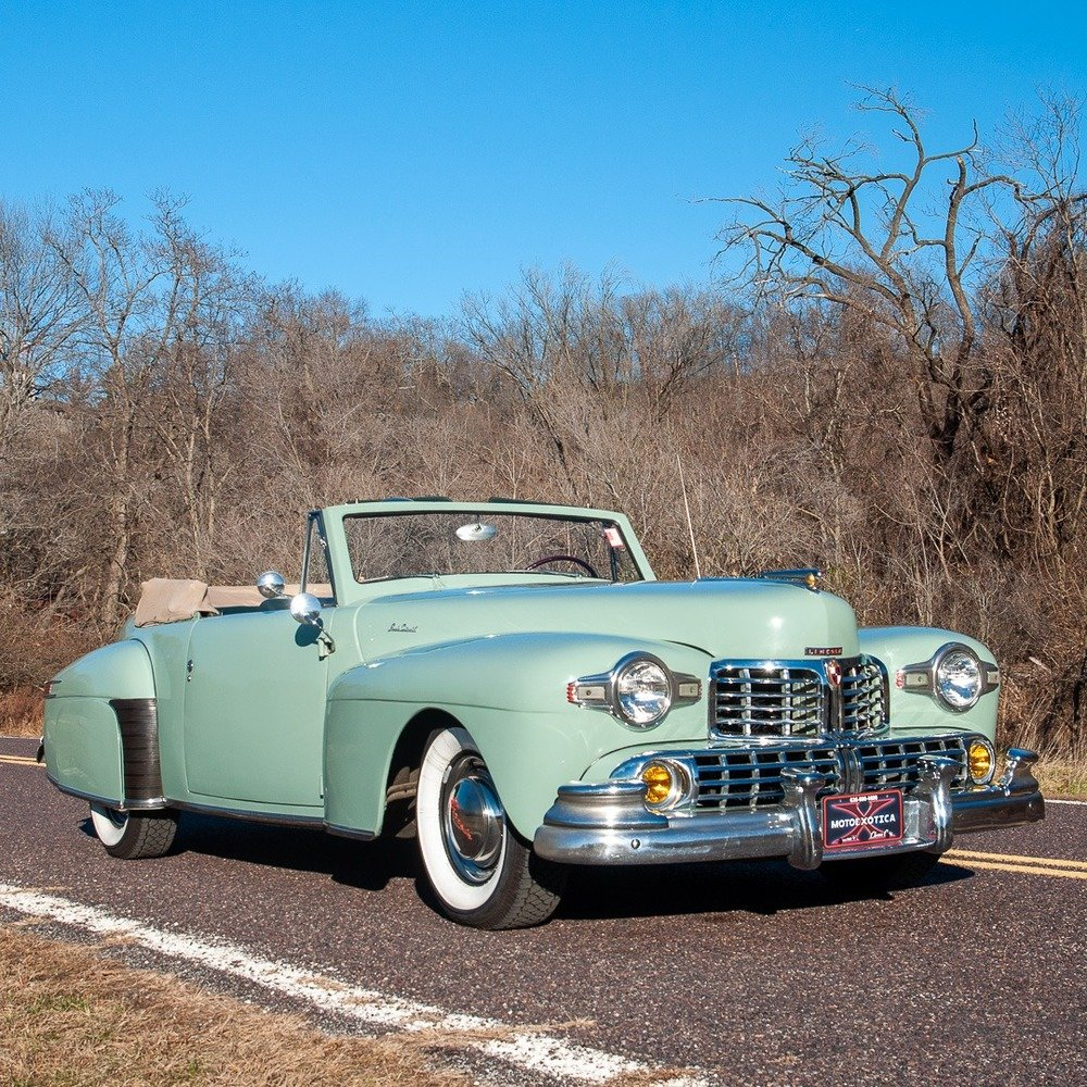 1947 Lincoln Continental Cabriolet = Rare 1 of 738 Blue $47. For Sale (picture 1 of 4)