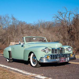 1947 Lincoln Continental Cabriolet = Rare 1 of 738 Blue $47. For Sale
