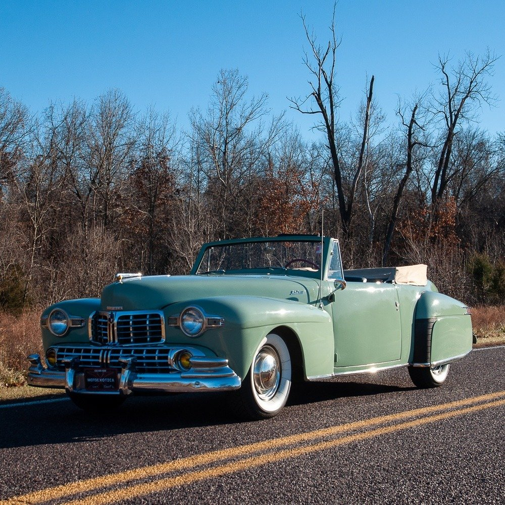 1947 Lincoln Continental Cabriolet = Rare 1 of 738 Blue $47. For Sale (picture 3 of 4)
