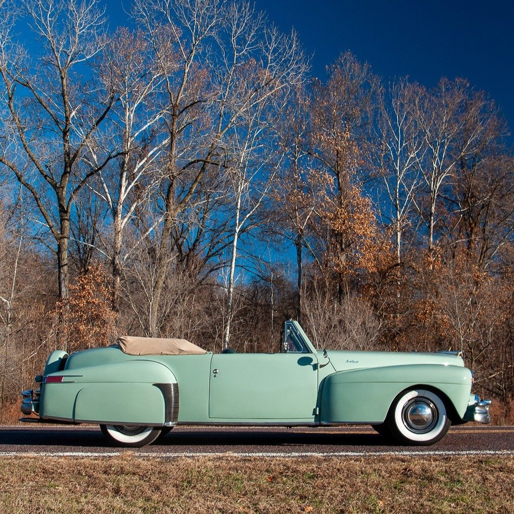 1947 Lincoln Continental Cabriolet = Rare 1 of 738 Blue $47. For Sale (picture 4 of 4)