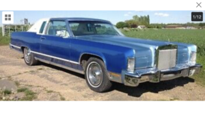 1978 Lincoln town coupe For Sale