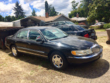 2002 LINCOLN Continental CAR EXECUTIVE =All Black $3.7k For Sale