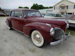 1941 Lincoln Continental HardTop = Burgundy(~)Tan $35k