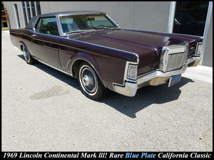 1969 Lincoln Continental MARK III = only 15.3k miles $8.9k