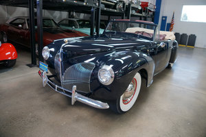 1940 Lincoln Zephyr V12 Continental Convertible  SOLD