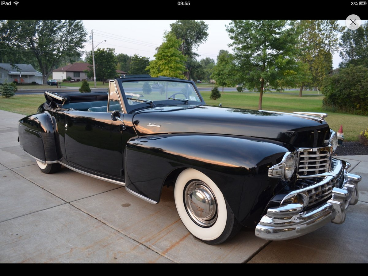 1947 Lincoln Continental Convertible For Sale (picture 1 of 1)