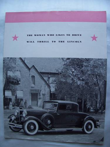 1930's LINCOLN SALES BROCHURE For Sale (picture 1 of 5)
