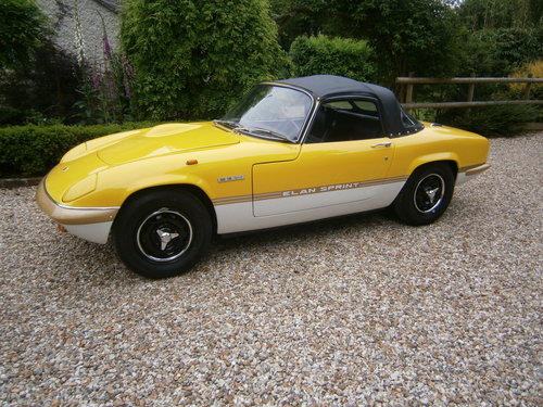 1971 LOTUS ELAN SPRINT GEN. FAC. DHC/LHD '71 *PROVISIONALLY SOLD* For Sale (picture 1 of 6)