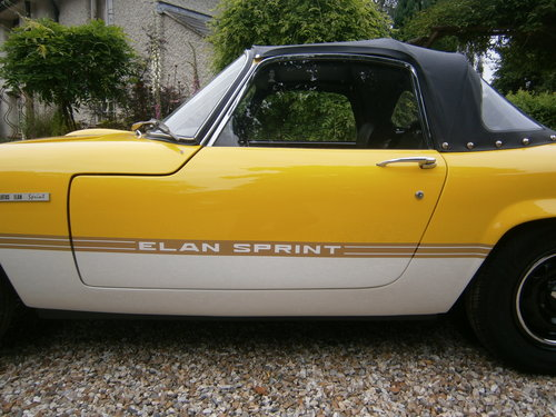 1971 LOTUS ELAN SPRINT GEN. FAC. DHC/LHD '71 *PROVISIONALLY SOLD* For Sale (picture 5 of 6)