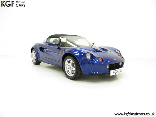1998 An Impeccable Lotus Elise S1 with One Owner and 4,757 miles SOLD (picture 1 of 6)