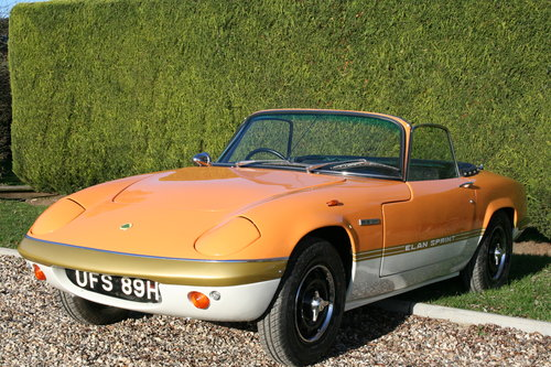 1970 Lotus Elan Sprint S4 DHC. Concours Restored.22,000 Miles For Sale (picture 1 of 6)