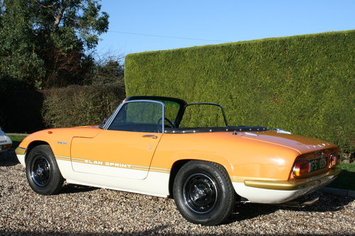 1970 Lotus Elan Sprint S4 DHC. Concours Restored.22,000 Miles For Sale (picture 2 of 6)