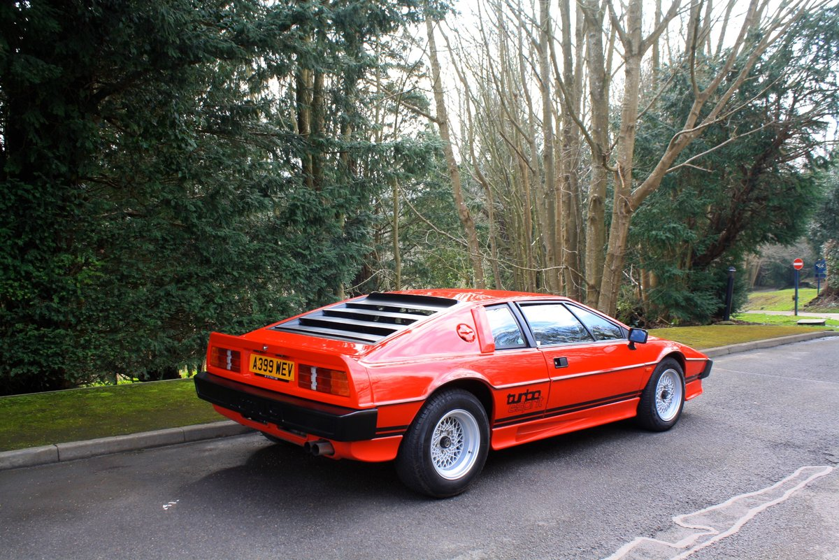Lotus Esprit Turbo, 1983.  Superb example in Calypso Red  SOLD (picture 3 of 6)