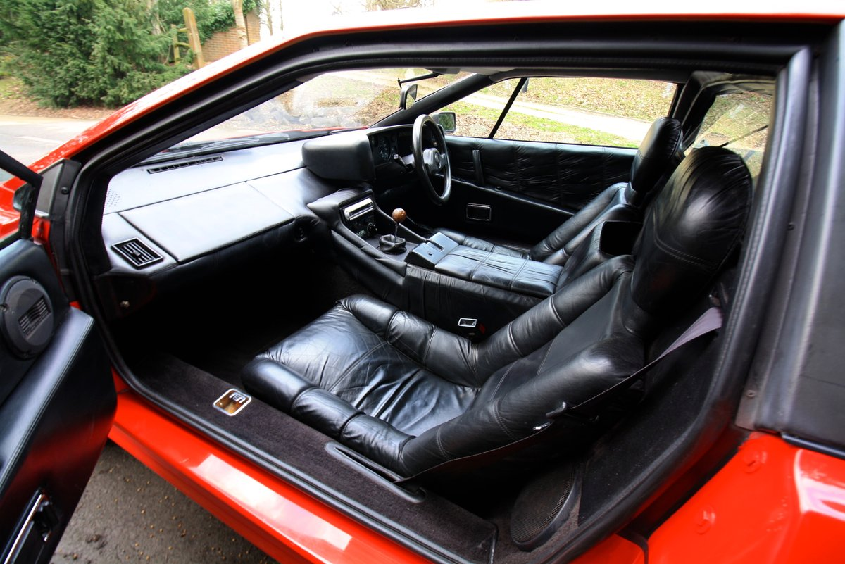 Lotus Esprit Turbo, 1983.  Superb example in Calypso Red  SOLD (picture 5 of 6)