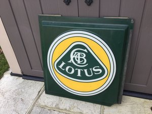 Lotus dealership sign 1970/80s For Sale