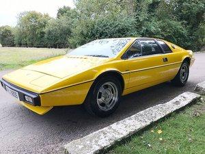 1978 Lotus Esprit Series 1: 02 Apr 2019 For Sale by Auction
