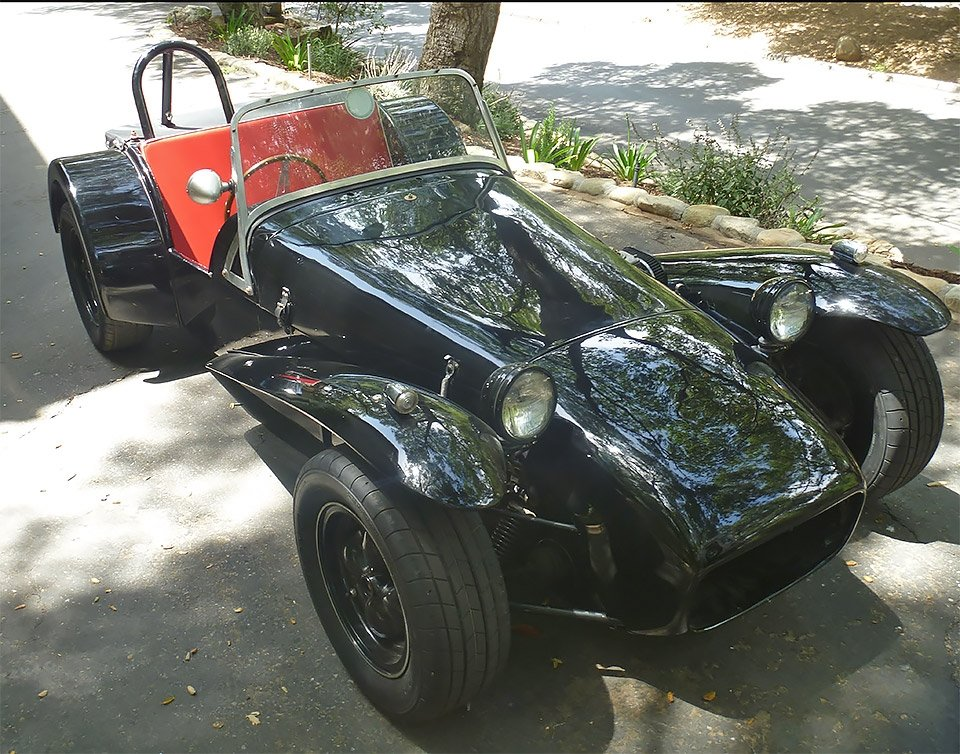 1962 Lotus Super Seven America = Series II 7a  Black  $39k For Sale (picture 2 of 6)