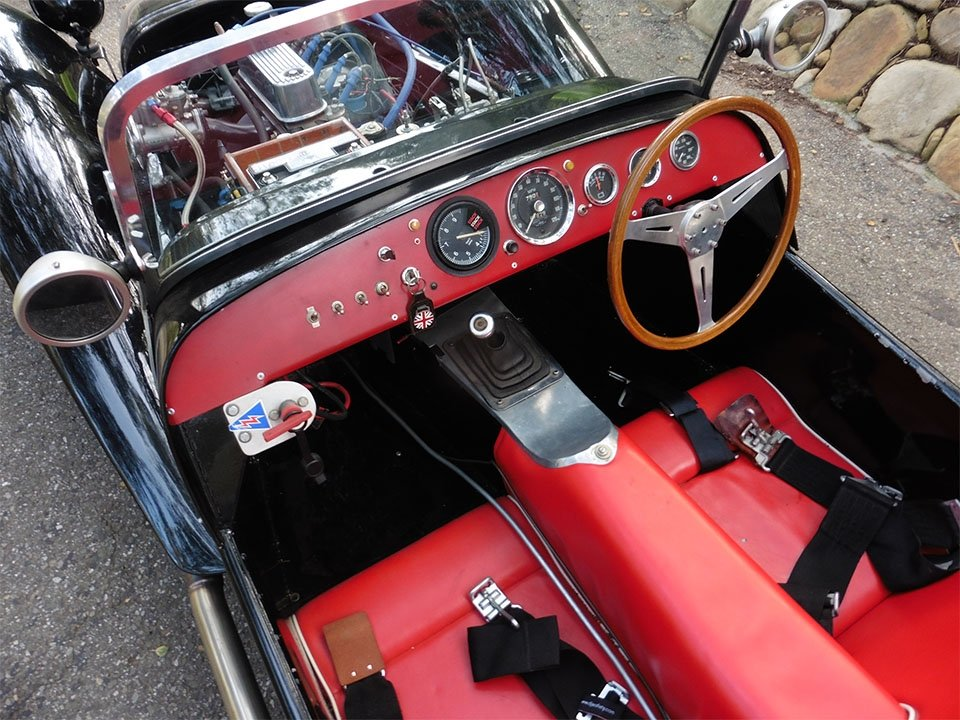 1962 Lotus Super Seven America = Series II 7a  Black  $49k For Sale (picture 4 of 6)