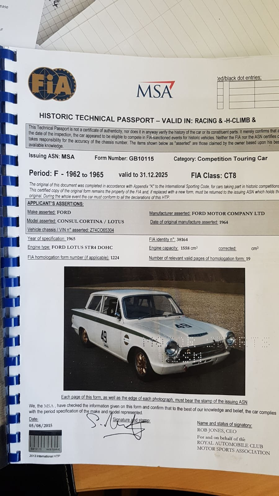 1963 FIA Lotus Cortina Race Car Fresh engine build For Sale (picture 3 of 6)