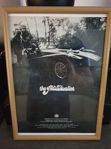 Original 1970 Lotus 7 Framed Advert Original