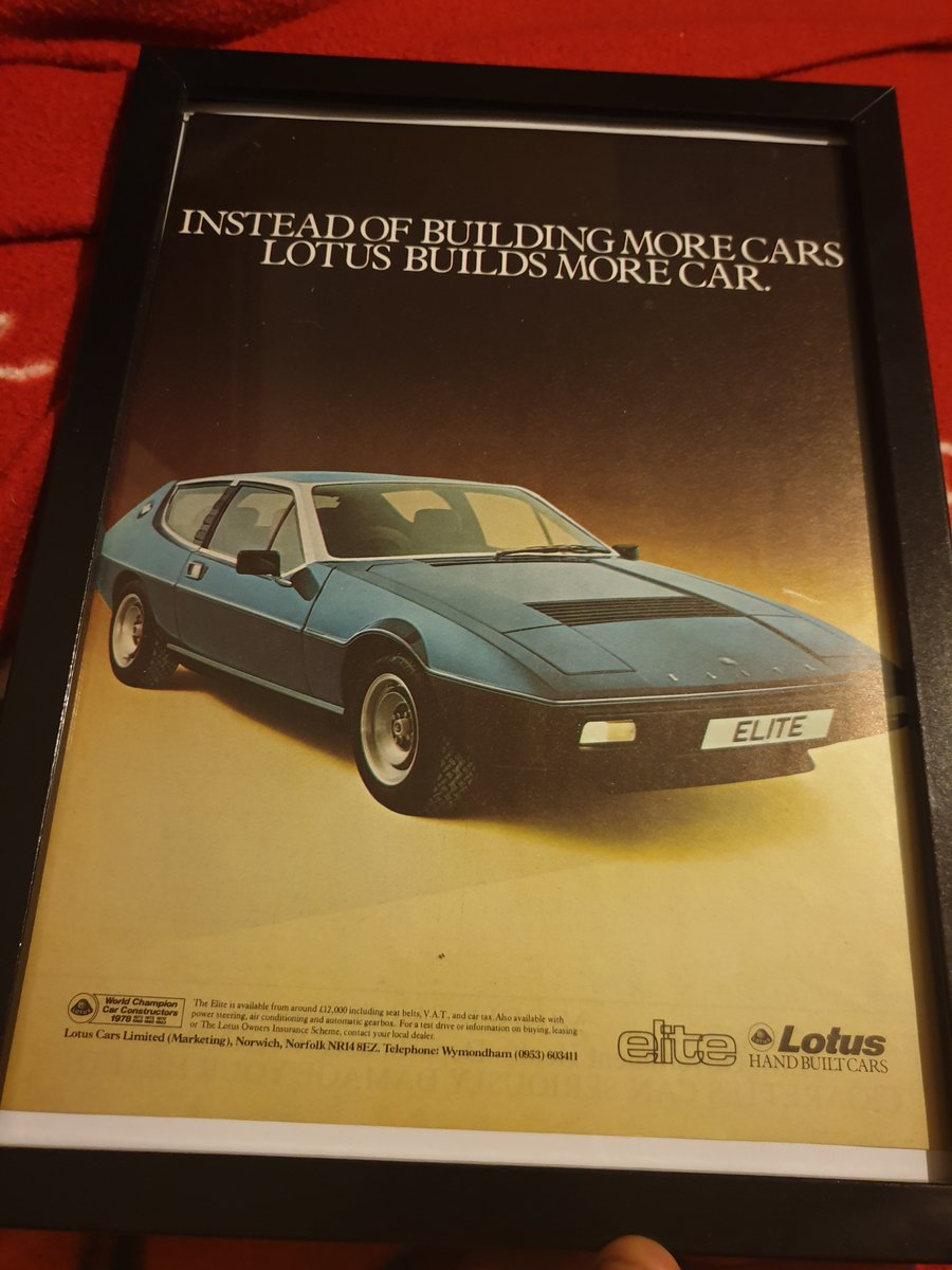 1979 Original Lotus Elite advert For Sale (picture 1 of 2)
