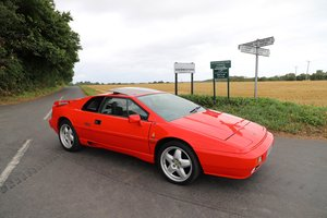 1989 Lotus Esprit Turbo, 1988 (February). Calypso Red For Sale