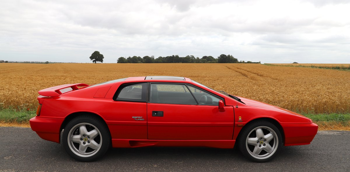 1989 Lotus Esprit Turbo, 1988 (February). Calypso Red For Sale (picture 2 of 6)
