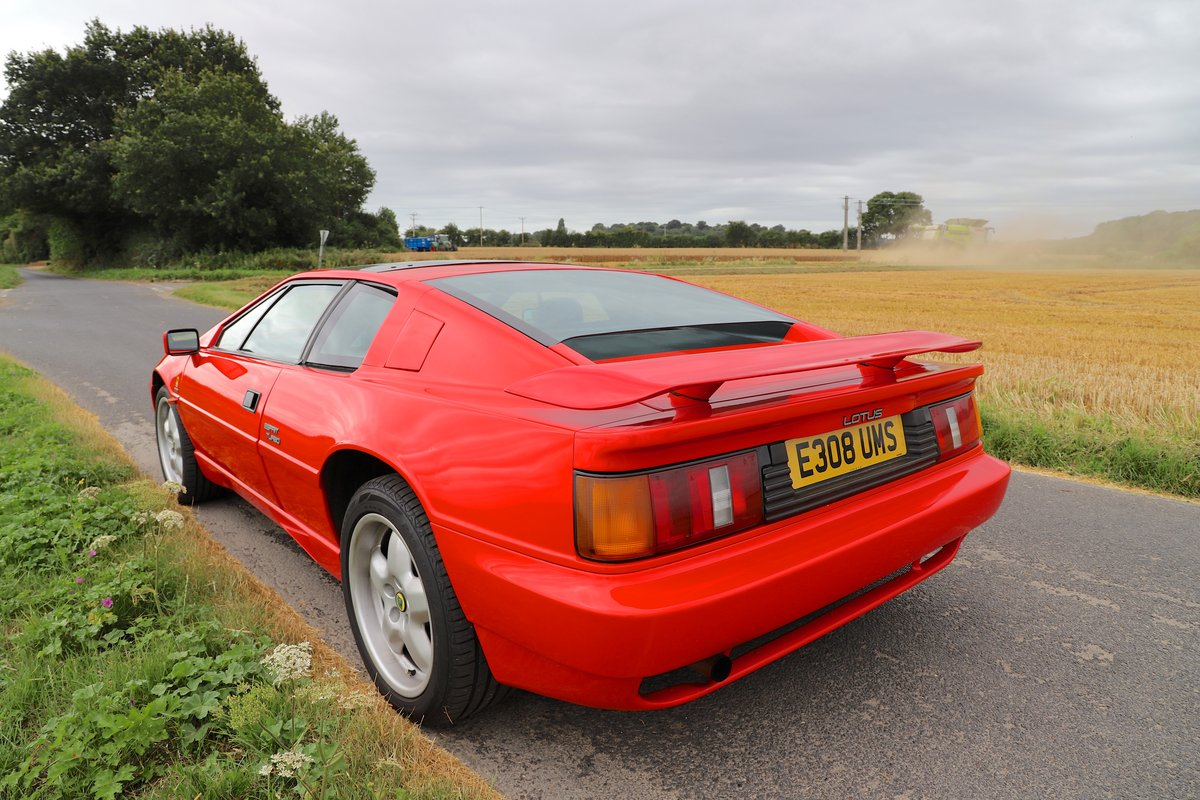 1989 Lotus Esprit Turbo, 1988 (February). Calypso Red For Sale (picture 3 of 6)