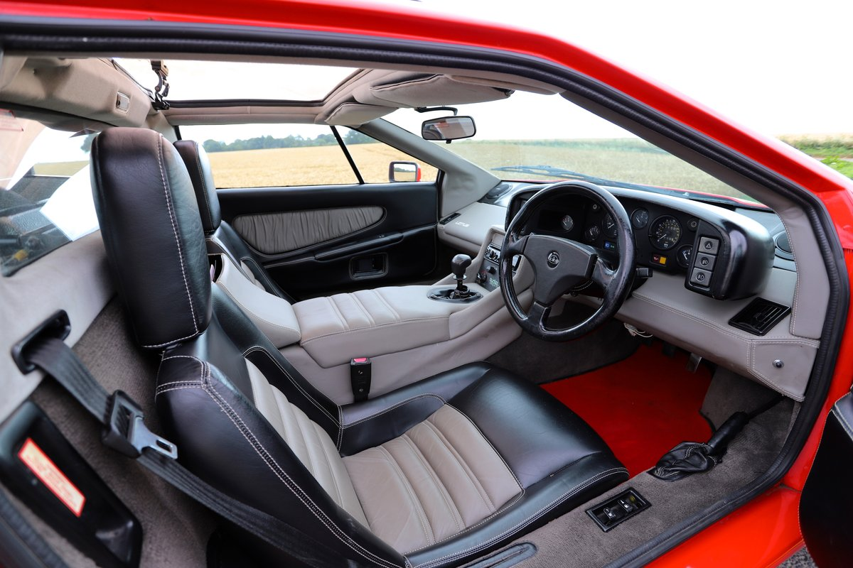 1989 Lotus Esprit Turbo, 1988 (February). Calypso Red For Sale (picture 4 of 6)