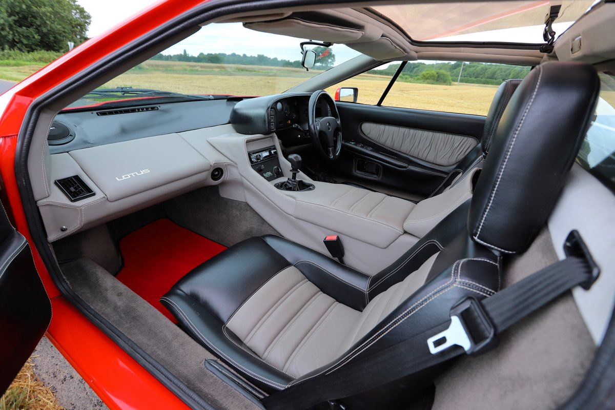 1989 Lotus Esprit Turbo, 1988 (February). Calypso Red For Sale (picture 5 of 6)