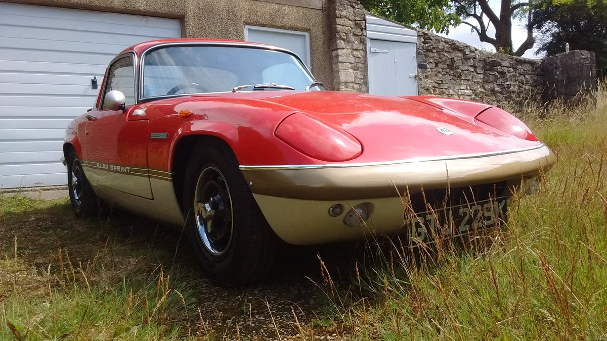 1971 Lotus Elan Sprint FHC Gold Leaf colours For Sale (picture 2 of 6)