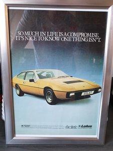 1979 Lotus Eclat Advert Original