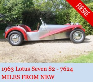 1963 Lotus Seven S2 - 7624 miles from new