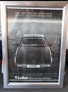 1983 Lotus Excel advert Original