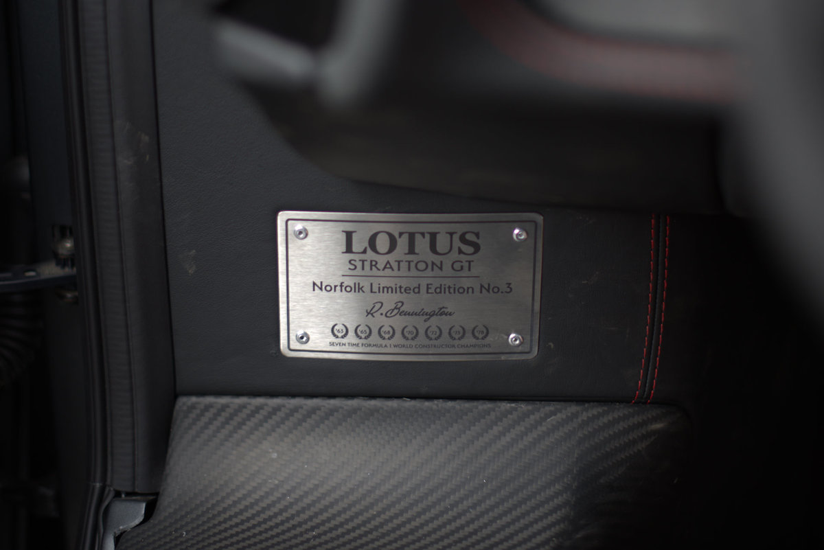 2017 Lotus Evora Stratton GT Limited Edition Car No:4 For Sale (picture 12 of 12)