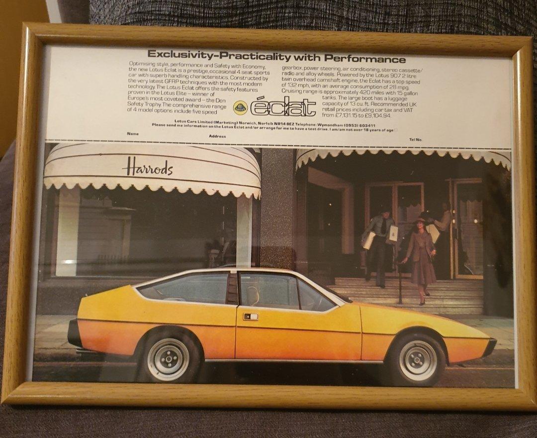 1976 Lotus Eclat Advert Original  For Sale (picture 1 of 2)