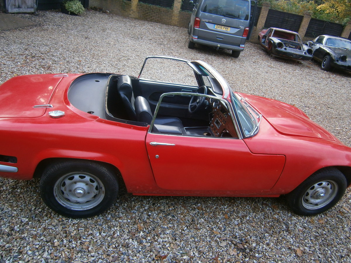 LOTUS ELAN S4 LHD DHC COMPLETE CAR LESS ENGINE 1971 *SOLD* For Sale (picture 6 of 6)