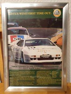 1992 Original Lotus Esprit Framed Advert