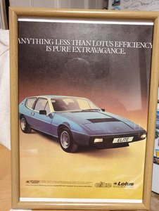 1979 Original Lotus Elite Framed Advert