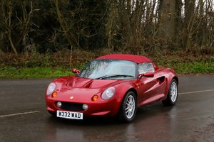 Lotus Elise S1, 2000. Rare Ruby Red metallic. Magnolia Trim For Sale