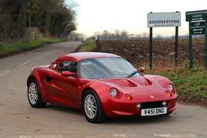 Lotus Elise S1, 1999.  Superb in Ruby Red metallic.
