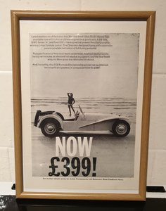 Picture of 1961 Lotus 7 Framed Advert Original