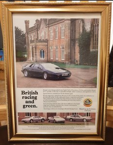 Picture of 1990 Lotus Esprit Turbo Advert Original