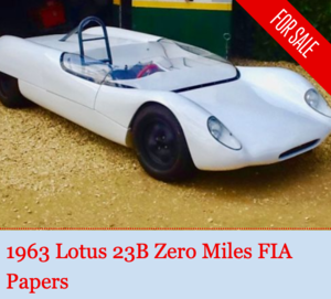 1963 Lotus 23B - zero miles - FIA Papers