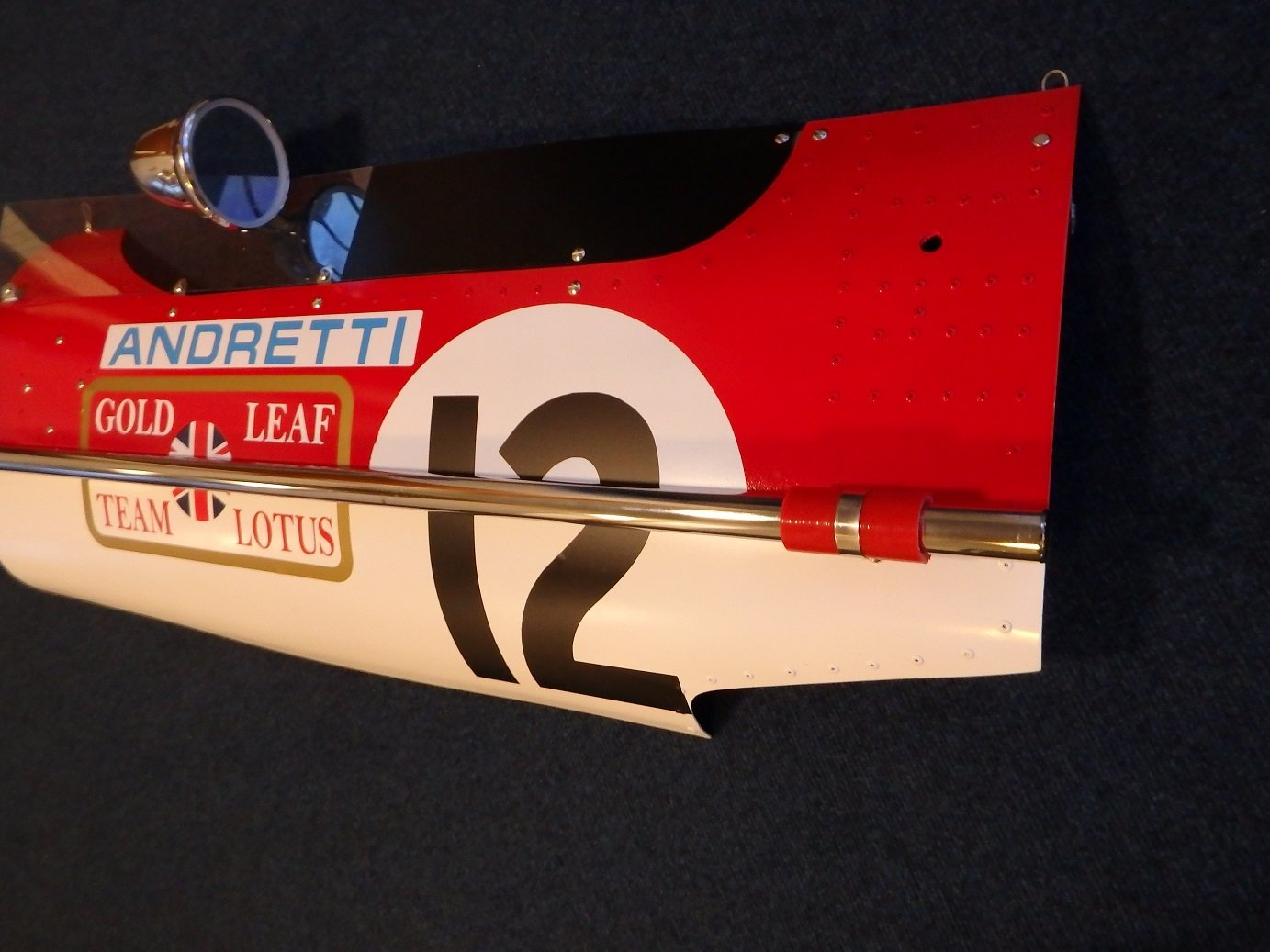 1968 Panel Mario Andretti Gold Leaf Lotus 49B USA Grand For Sale (picture 3 of 3)