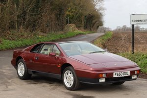Lotus Esprit Turbo, 1988.  49,900 miles. Claret Red metallic
