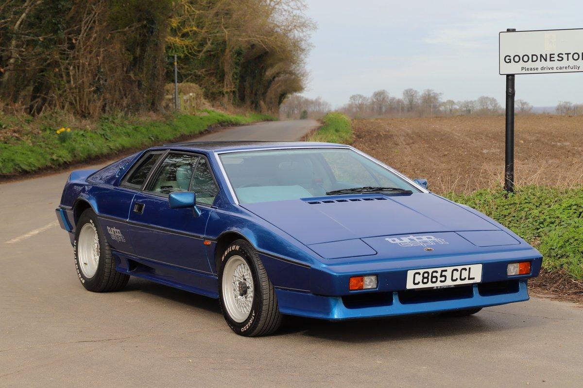 Lotus Esprit Turbo, 1986. Essex Blue metallic  For Sale (picture 1 of 6)