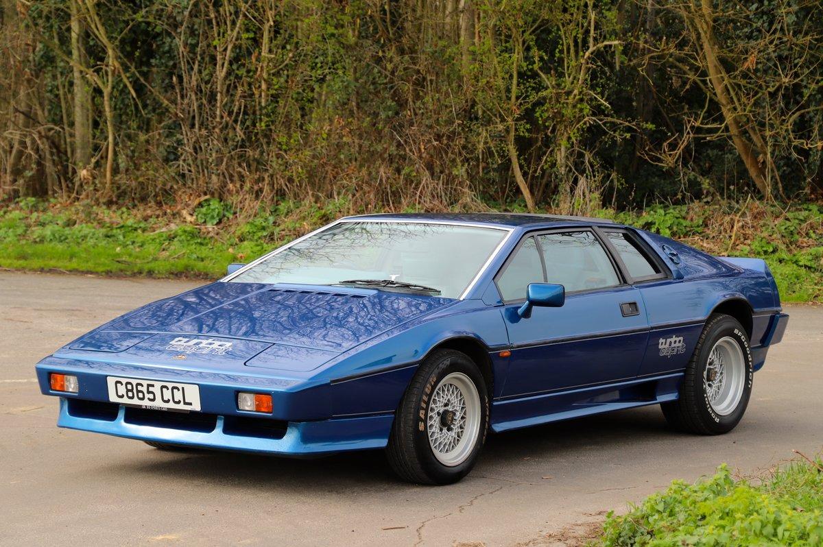 Lotus Esprit Turbo, 1986. Essex Blue metallic  For Sale (picture 2 of 6)